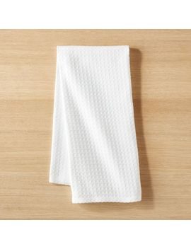 Waffle Weave White Dish Towel by Crate&Barrel