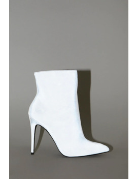 Metallic Stiletto Booties by Forever 21