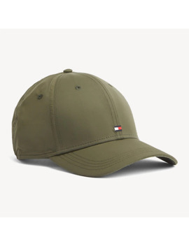 Flag Embroidery Recycled Baseball Cap by Tommy Hilfiger