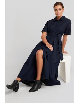 Short Sleeve Denim Dress Bleu by Na Kd Trend