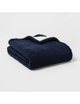 Solid Sherpa Throw Blanket   Threshold™ by Threshold