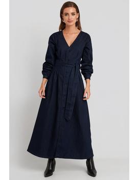 Long Sleeve Denim Dress Bleu by Na Kd Trend