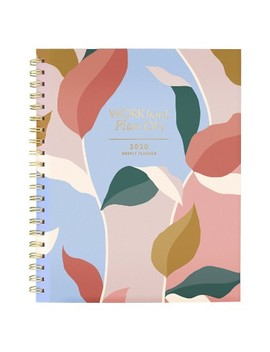 "2020 Clear Poly Planner 11.5""X 8.5"" Leaves   Create & Cultivate by At A Glance"