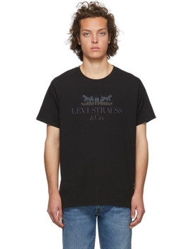 Black Set In Neck T Shirt by Levi's
