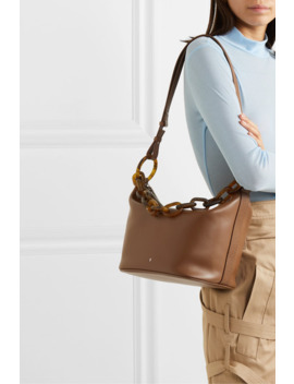 Leather Shoulder Bag by Gu De