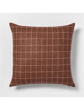 Woven Wool Blend Windowpane Square Throw Pillow   Threshold™ by Shop This Collection