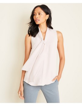 Petite Bow Neck Shell by Ann Taylor
