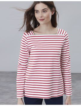 Matilde Square Neck Jersey Top by Joules