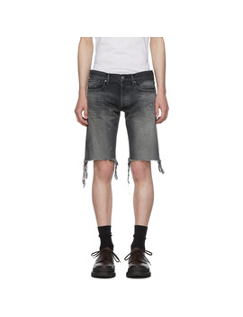 Black Denim 'the Cast 2' Shorts by John Elliott