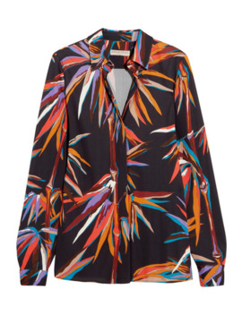 Printed Stretch Jersey Shirt by Emilio Pucci