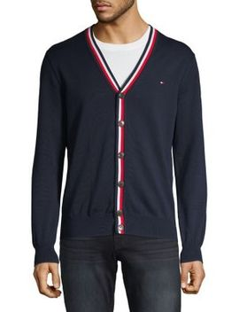 Ribbed Cotton Cardigan by Tommy Hilfiger