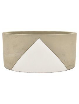 Three Hands Concrete Circular Bowl Planter by Three Hands