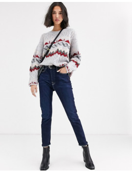 Native Youth Sweater In Fairisle Knit by Native Youth