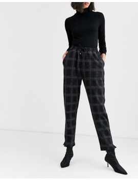 Native Youth Relaxed Tracksuit Bottoms In Check Two Piece by Native Youth