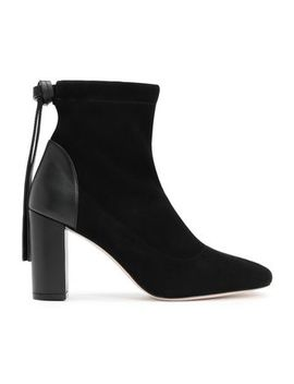 Leather Paneled Suede Ankle Boots by Stuart Weitzman