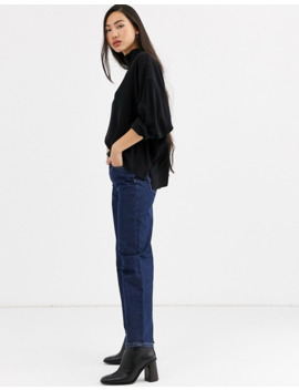 Weekday Banjo High Neck Blouse In Black by Weekday