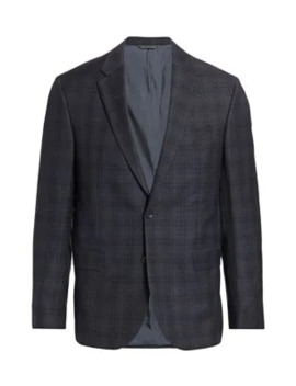 Modern Windowpane Check Sport Jacket by Saks Fifth Avenue