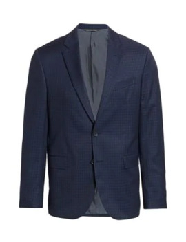 Modern Subtle Check Suit Jacket by Saks Fifth Avenue