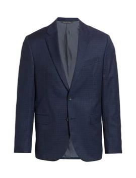 Modern Subtle Check Suit Jacket by Saks Fifth Avenue