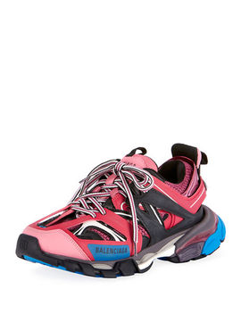 Mixed Media Leather Track Sneakers by Balenciaga