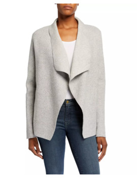 Wool Blend Waterfall Open Front Cardigan by Majestic Paris For Neiman Marcus
