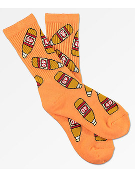 40s &Amp; Shorties Bottles Peach Crew Socks by 40 S And Shorties