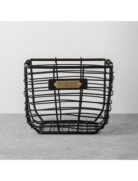 Wire Bin Black   Hearth & Hand™ With Magnolia by Shop Collections