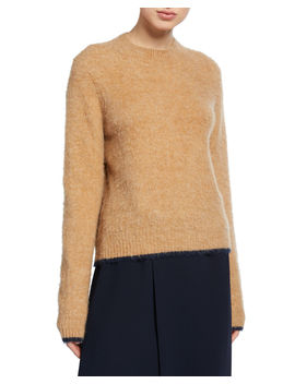 Pullover Contrast Tip Sweater by Vince