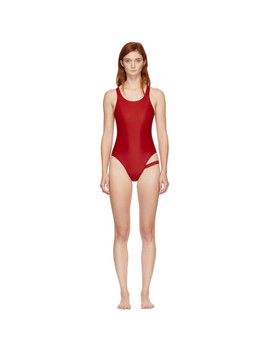 Red Shanice One Piece Swimsuit by Marieyat