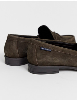Ben Sherman Suede Tassel Loafers In Brown by Ben Sherman