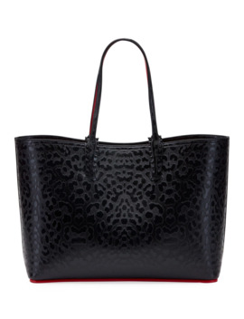Cabata Leopard Embossed Tote Bag by Christian Louboutin