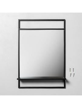 Bath Mirror With Shelf Black   Hearth & Hand™ With Magnolia by Hearth & Hand With Magnolia