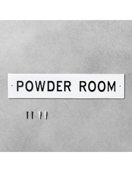 Wall Sign Powder Room White   Hearth & Hand™ With Magnolia by Hearth & Hand With Magnolia