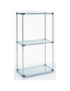 "24"" Deep X 30"" Wide X 54"" High 3 Tier Solid Galvanized Starter Shelving Unit by Omega Products Corporation"