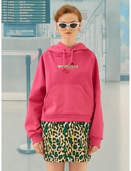 Vivid Crop Hoodie Pink by Another A