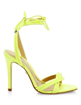 Yvi Leather Stiletto Sandals by Schutz