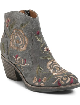 Westmont Floral Embroidered Bootie by SÖfft