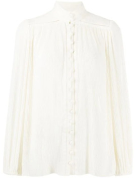 Espionage Plisse Blouse by Zimmermann