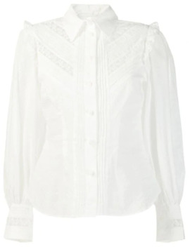 Lace Inserts Shirt by Zimmermann