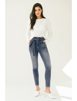 Ultra High Rise Kate Ankle Skinny Jeans Ultra High Rise Kate Ankle Skinny Jeans by Dynamite