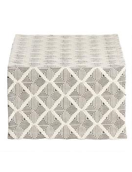 Black And Natural Woven Geometric Table Runner by World Market