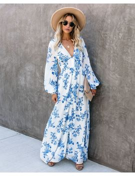 Erin Long Sleeve Button Down Maxi Dress by Vici