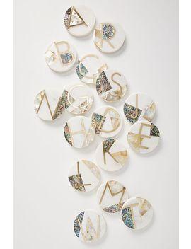 Marina Monogram Coaster by Anthropologie