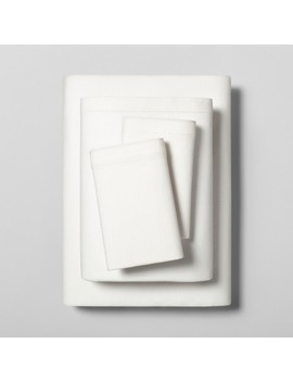 Linen Blend Sheet Set With Hem Stitch   Hearth & Hand™ With Magnolia by Shop Collections