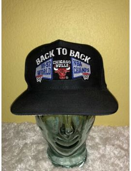 Vintage Universal 1992 Nba Finals Chicago Bulls Back To Back Nba Champs Hat by Universal