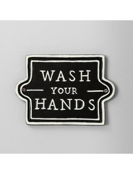 Wall Sign Wash Your Hands Black   Hearth & Hand™ With Magnolia by Hearth & Hand With Magnolia