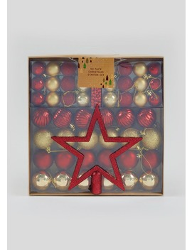 50 Pack Christmas Tree Decoration Set by Matalan