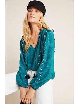 Noelle Embroidered Peasant Blouse by Dolan Left Coast