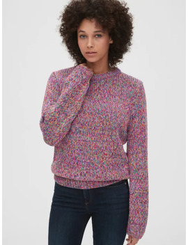 Multicolor Marled Crewneck Sweater by Gap
