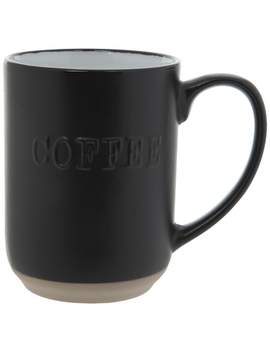 Matte Black Embossed Coffee Mug by Hobby Lobby